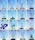 Tubo di acqua di fumo di vetro Handcrafted fabbrica di vetro verde della corona del ODM Hebei dell'OEM della vasca di gorgogliamento unica esaltante dell'impianto offshore