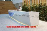 Bureau de réception rond acrylique de bureau de la TW/bureau moderne de bureau de conception