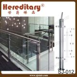Pasamano de cristal de interior del acero inoxidable de la placa doble del pórtico (SJ-S096)