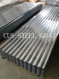La plaque de fer de toiture en métal de SGCC/a ridé les tôles d'acier galvanisées