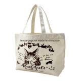 Os sacos de Tote reusáveis do algodão da lona do saco de compra carreg o saco