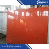 Splashbackのパネルのための赤く白い照る塗られた超明確なガラス