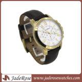 Relógio de quartzo de Japão Movt com a cinta de couro para homens