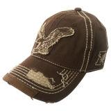 Lavada blanca gorra de béisbol con la impresión y bordado Gjwd1742
