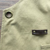 Kundenspezifisches Unisexente-Segeltuch-Küche-Schutzblech mit Leder