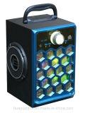 De houten Spreker van Bluetooth van de Doos met Licht, TF van de Steun van de FM Kaart