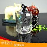 Tazza di caffè all'ingrosso della tazza di vetro bevente della tazza di vetro di birra con la maniglia