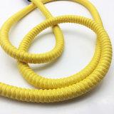 double boyau de Shisha de narguilé de jaune en métal de modèle de courge de 1.8m (ES-HH-009)