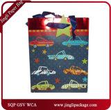 Sacos de papel luxuosos impressos de arte dos sacos de compra do saco de papel