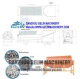 Pequeño concentrador del oro, concentrador portable del oro, planta que se lava del mineral del oro del motor diesel