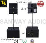 Vero10&S30 línea accionada activa altavoz del sistema del arsenal para la demostración al aire libre