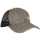 Chapéu feito sob encomenda do camionista da parte traseira do engranzamento do cânhamo com etiqueta tecida