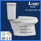 10# het afzonderlijke/Tweedelige Ceramische Toilet van de Badkamers van de Sifon in Sanitaire Waren