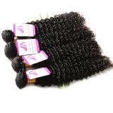 Бразильские человеческие волосы объемной волны волос 3PCS девственницы бразильские соткут темный Brown русое #2, выдвижение волос #4