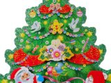 2017 etiqueta engomada caliente del árbol de navidad de las ventas 3D