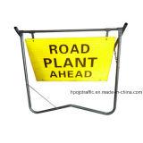 교통 정리 임시 안전 도로 그네 경고 표시