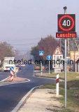 Signe de vitesse limite, poteaux de signalisation de DEL