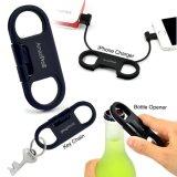 Зарядный кабель данным по USB консервооткрывателя бутылки Keychain