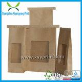 Nach Maß fördernder Brown-Papierbeutel mit Fenster-Großverkauf