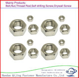 """Écrous six-pans de la noix Hex DIN934 d'ANSI/ASME B 18.2.2/ISO4032 #6 - 3/4 """" noir de plaine de carbone/acier inoxydable galvanisé"""