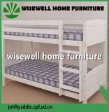 シングル・ベッド(WJZ-B115)が付いているマツ木二段ベッド