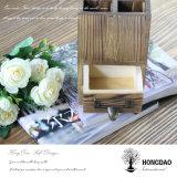 Sostenedor de madera de encargo de la pluma de Hongdao con los divisores y el cajón Wholesale_L