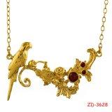 Collar grueso de la cadena del oro del hombre de la manera con el oro plateado (Zd-3474)