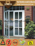 Porta de dobradura de vidro de alumínio da vitrificação dobro de qualidade superior com AS/NZS2047