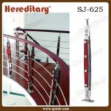 Trilhos decorativos decorativos do ferro do patamar dos Balusters do aço inoxidável e da madeira (SJ-H1723)