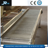 Convoyeur à bande équilibré de treillis métallique d'armure pour le traitement au four de pain