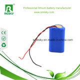 18650 paquete de la batería del Li-ion de 12V 2000mAh para la antorcha de la linterna del LED