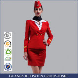 Uniforme elegante del asistente de vuelo del juego de falda, uniforme de la azafata de la línea aérea de la falda de la manera