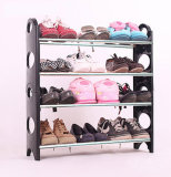4層の靴のオルガナイザーの記憶の床の永続的なラックプラスチック12のペア
