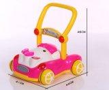 Ходок розового и голубого младенца с нот/музыкальным ходоком младенца