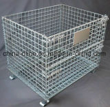 Gabbia piegata di immagazzinamento alla rinfusa del metallo (1000*800*840)
