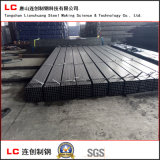 Tubo d'acciaio lubrificato del quadrato nero con tessuto impermeabile