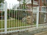 3つの柵によって電流を通される錬鉄の塀