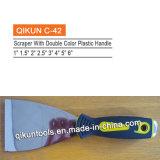 Нож замазки пластичного зеркала ручки Polished