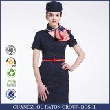 Mujeres uniforme, uniforme largo de la línea aérea de la línea aérea de la funda de las mujeres uniformes del diseño de la línea aérea