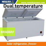 熱い販売408L DCの太陽フリーザー