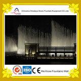 Grande fontaine circulaire de musique dans le grand fleuve ou lac