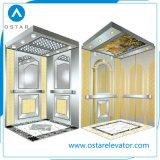 Cabine de madeira e do espelho da casa de campo do elevador com preço de fábrica (OS41)