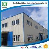 Fábrica de la estructura de acero con el panel de emparedado o el solo panel