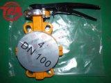 Produto químico alinhado bolacha Dn100 da válvula de borboleta de PTFE