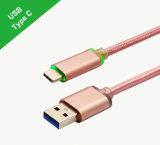 Самый новый Тип-C 2017 к кабелю USB 3.0 СИД светлому