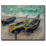キャンバスの壁の芸術のThreefishingのボートの油絵のホーム装飾の芸術の油絵