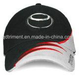 Casquette de baseball 100% sifflante de broderie d'insertion de sergé de coton (TM0920)