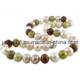 Ожерелье перлы Multi цвета пресноводное выращиванное в питательной среде: (FPN-001)