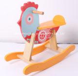 Balancim de balanço de madeira da Animal-Galinha do bebê novo do projeto