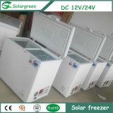 Congelador de refrigerador de la puerta doble del aparato electrodoméstico del panel solar de la C.C.